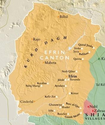 Jazydzkie wioski w Efrin